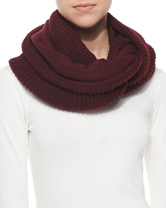 Hat Attack Reversible Knit Infinity Scarf, Berry