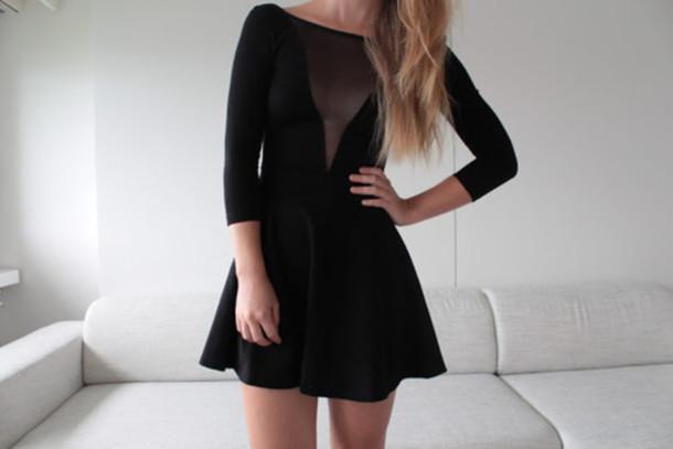 dress black dress transparent dress