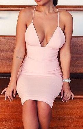 Jasmine Deep-V Dress