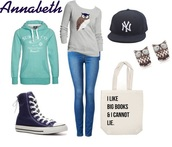 top,annabeth,chase,outfit,hat,hoodie,long sleeves,jeans