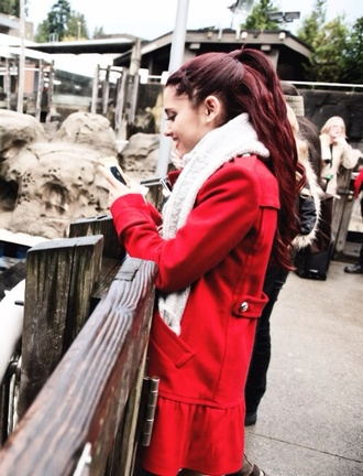 jacket cute red jacket