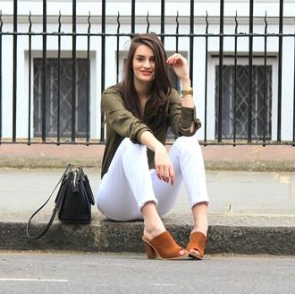peexo blogger shirt jeans bag jewels