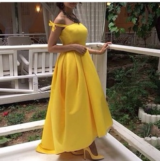 dress yellow dress cocktail dress