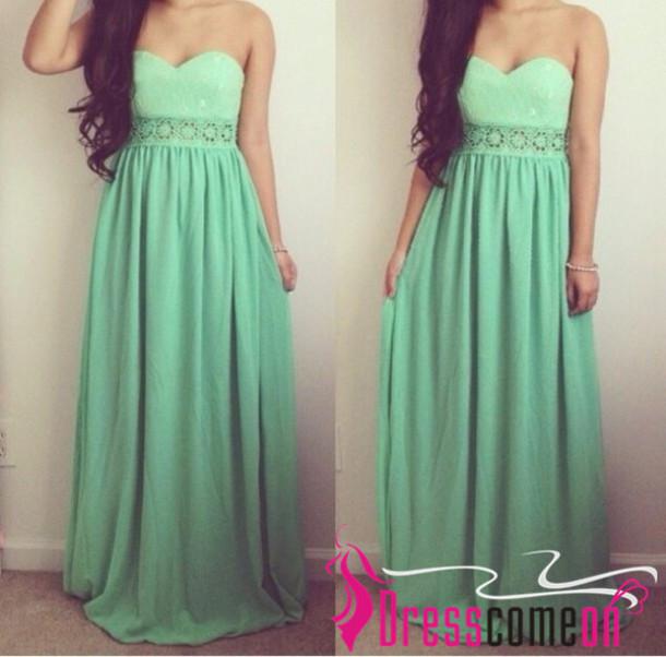 bd47799108f5 dress prom dresses2014 mint dress sweetheart neckline sweetheart prom dress  sweetheart party dress long evening dress