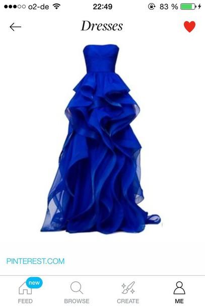 dress prom dress blue dress elegant dress ruffle dress extravagant