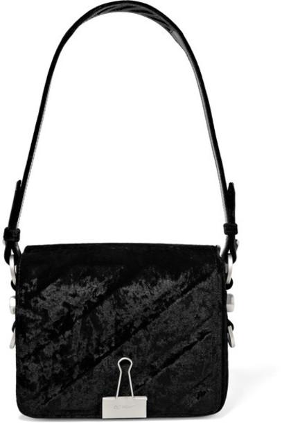 Off-White bag shoulder bag black velvet