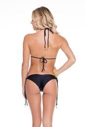 swimwear,tie sides,bikini bottoms,black,gold,luli fama,bikiniluxe