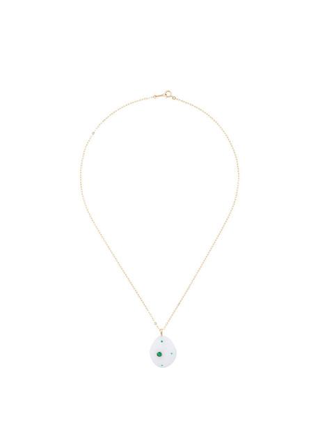 Cvc Stones women necklace gold yellow grey metallic jewels