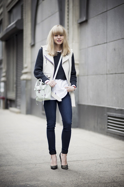 just another me jacket sweater shirt jeans