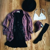 shoes,cute shoes,dress,fedora,hat,bralette,bralette tops,bralette set,white bralette,boots,ankle boots,purple,purple boots,ankle booties.,flannel shirt,flannel top,flannel,plaid blouse,plaid,plaid shirt,plaid top,purple flannel,girly,cute,indie,indie boho,cool,girl,summer,vintage,clothes,blouse,boho,boho chic,boho shirt,boho dress,little black dress,hippie,shirt,urban,gorgeous,women,stylish,style,trendy,outfit idea,fashion inspo,tumblr outfit,tumblr shirt,tumblr shoes,tumblr dress,tumblr,tumblr girl,tumblr clothes,black lace dress,see through,plum,pretty,instagram,blogger,fashionista,chill,rad,casual,on point clothing,cardigan,underwear
