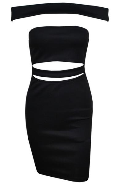 Niamh - Bardot Hollow Bodycon Dress
