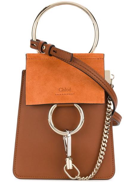 Chloe women bag leather suede brown