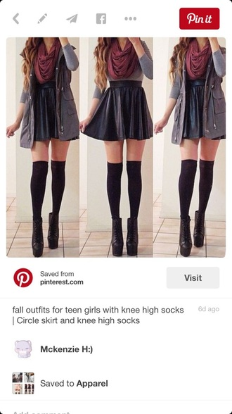 skirt socks shoes