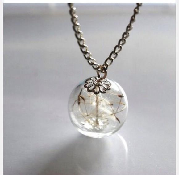jewels necklace dandelion necklace