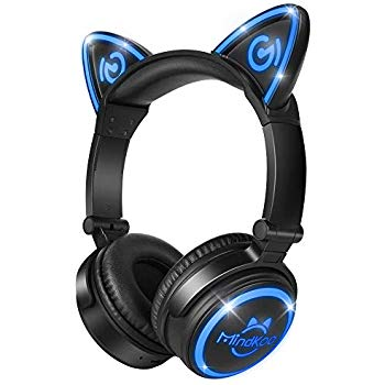 Amazon Com Brookstone Wireless Cat Ear Headphones Bluetooth Headset Color Changing Cell Phones Accessories