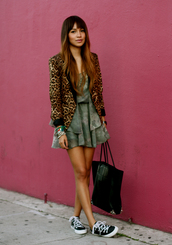 sincerely jules,dress,jacket,bag,shoes,jewels,khaki,robe,cocktail dress,fall outfits,short,leopard print,sneakers,teddy