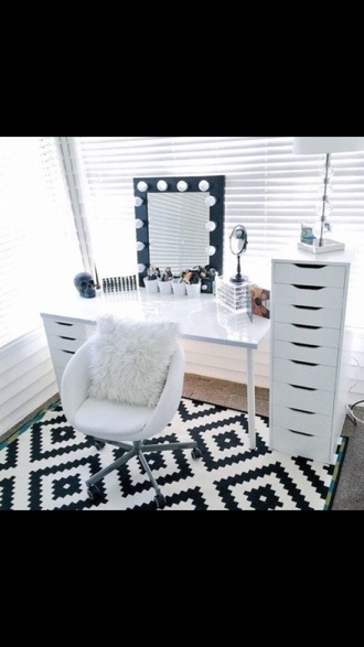home accessory white desk storage make-up ikea