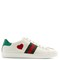 New ace heart-appliqué low-top leather trainers