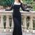 Elegant Evening Dress - Black Lace Dress