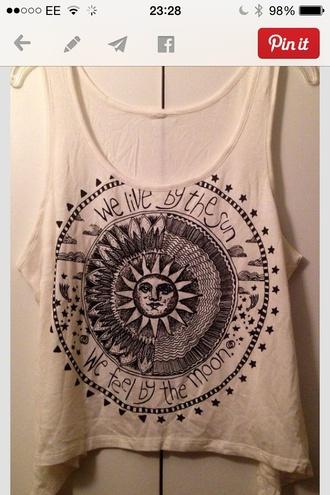 boho shirt sun and moon tee boho retro black white black and white