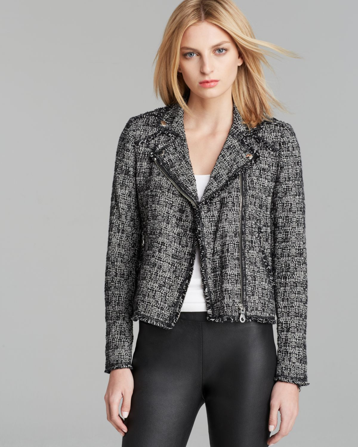 Rebecca Taylor Jacket - Exclusive Tweed Moto | Bloomingdale's