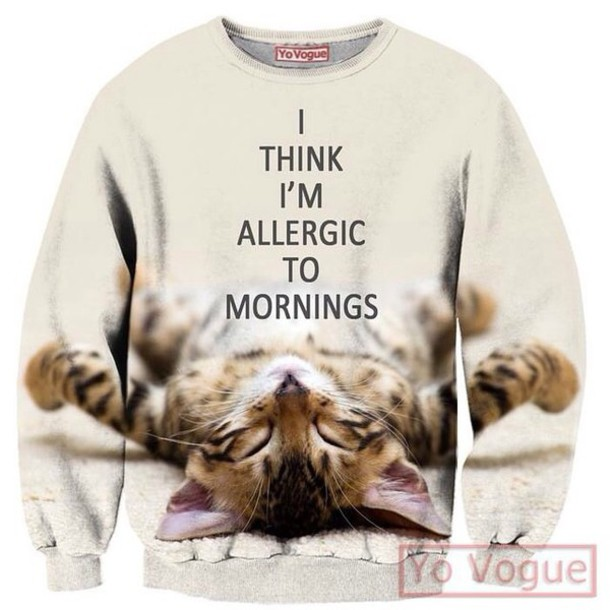 top qq sweater style sweatshirt clothes clothing co cats pastel goth pastel grunge hippie hipster blouse quote on it cute sweater kawaii