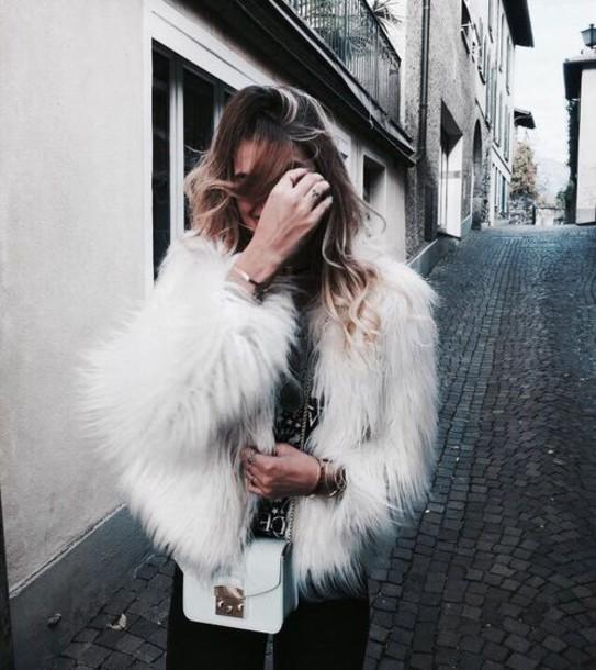 coat faux fur dark grey coat grey winter outfits winter coat