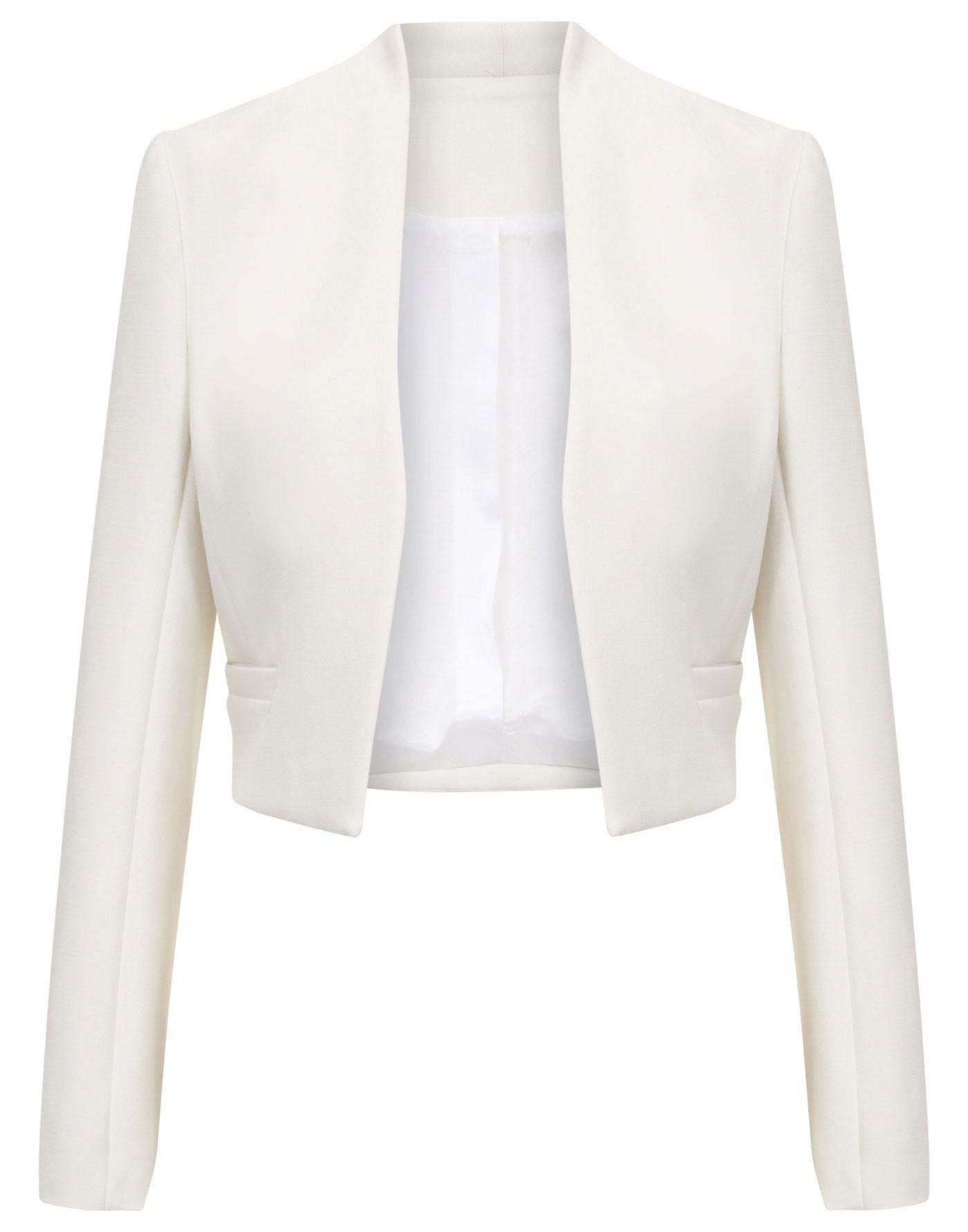 e85a93eeb6f33 White cropped crepe blazer
