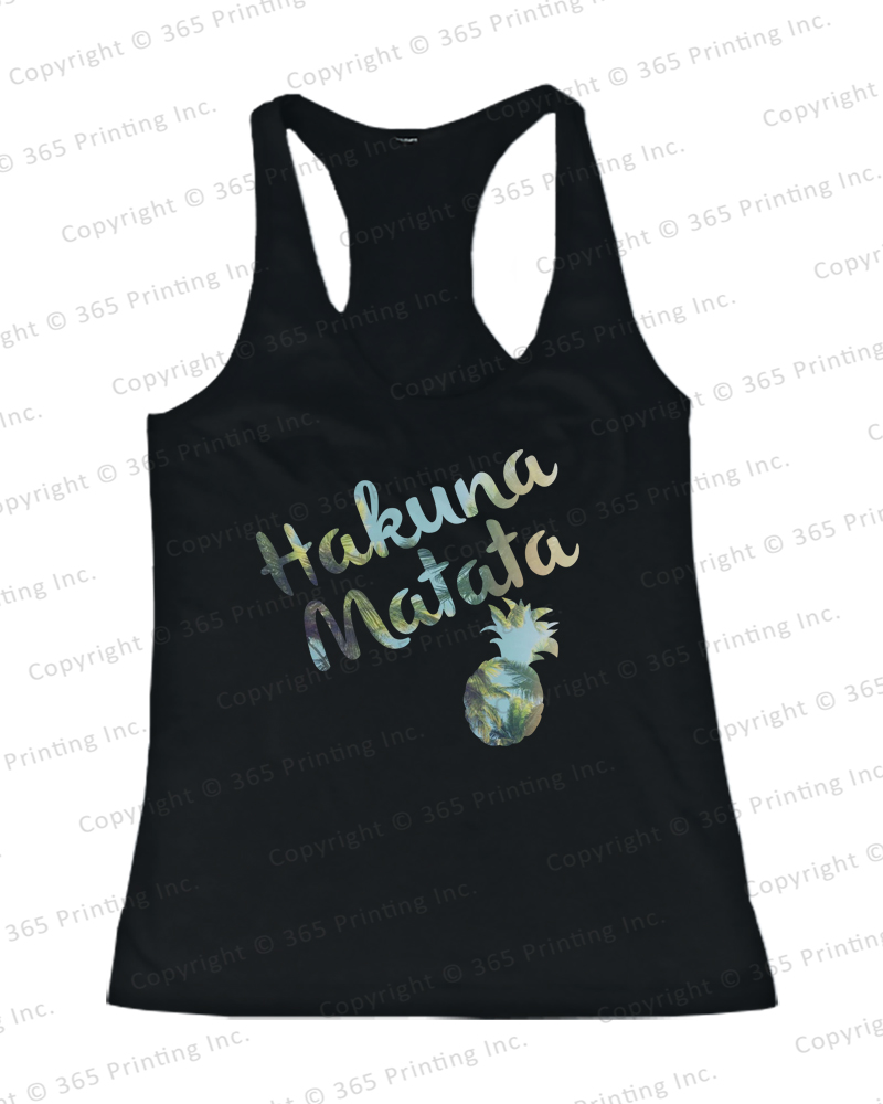 Women's Beach Tank Tops Hakuna Matata Pineapple Blue | eBay