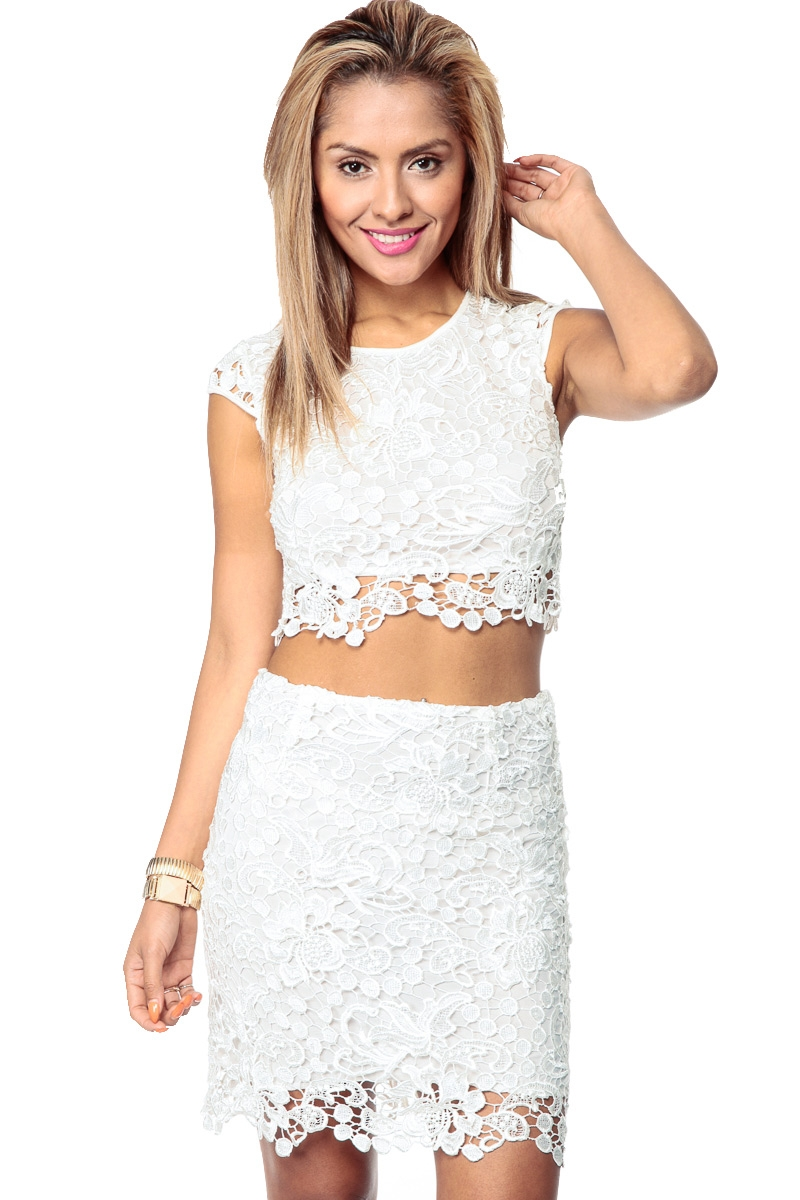 Timeless lace crop top cicihot top shirt clothing online for Best dress shirts online