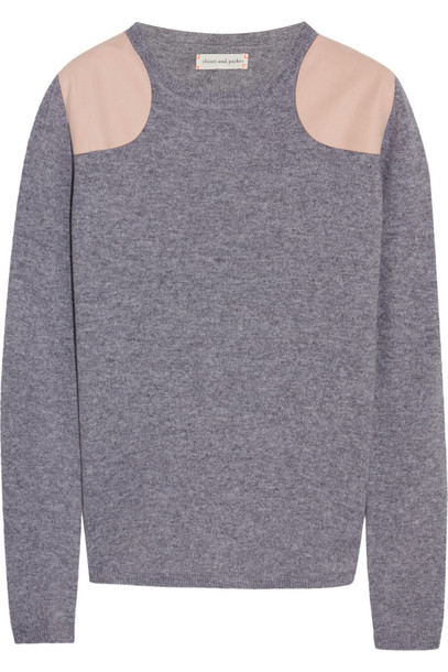 Chinti and Parker sweater suede