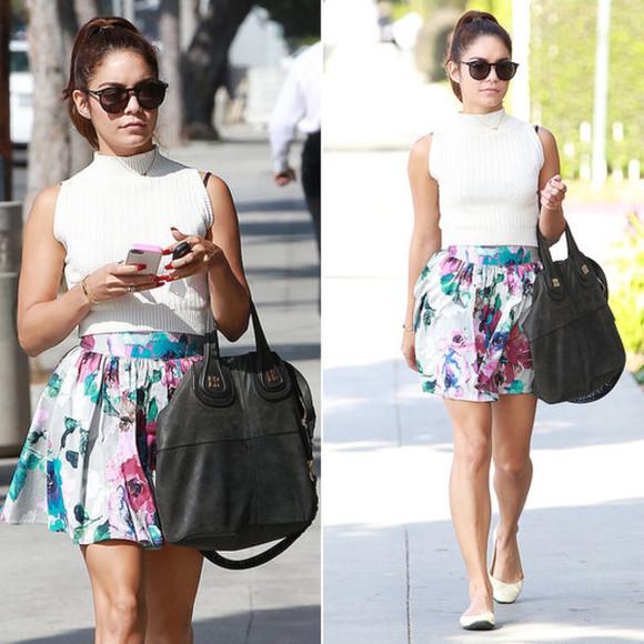 floral skirt vanessa hudgens floral skirt Vanessa Hudgens