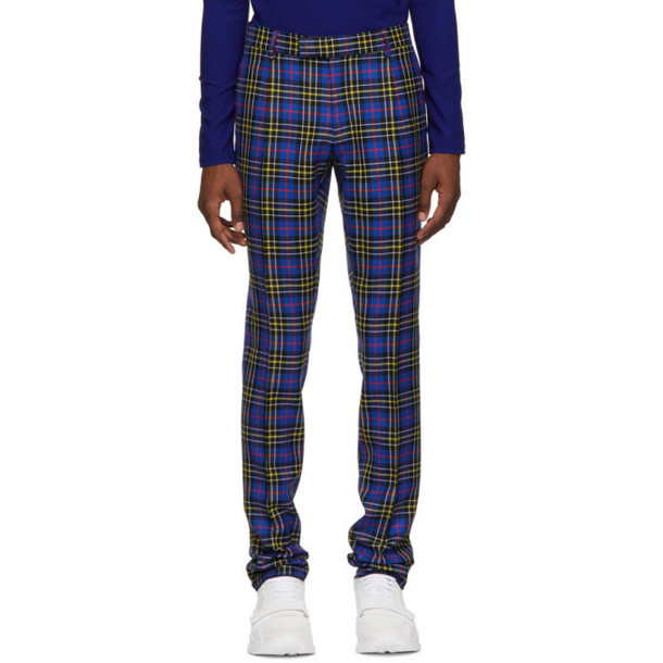 Burberry Blue Check Soho Trousers