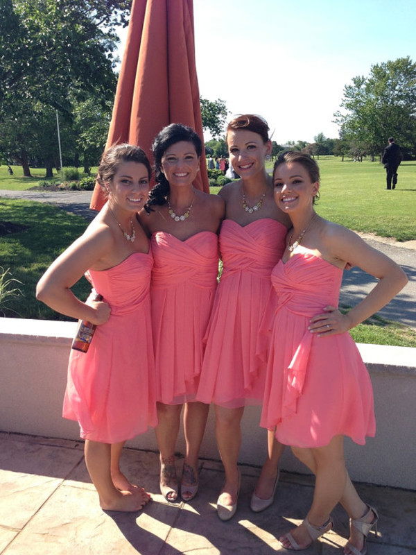 dress short bridesmaid dresses coral bridesmaid gown chiffon bridesmaid dress chiffon bridesmaid dresses under 100 knee length prom dress