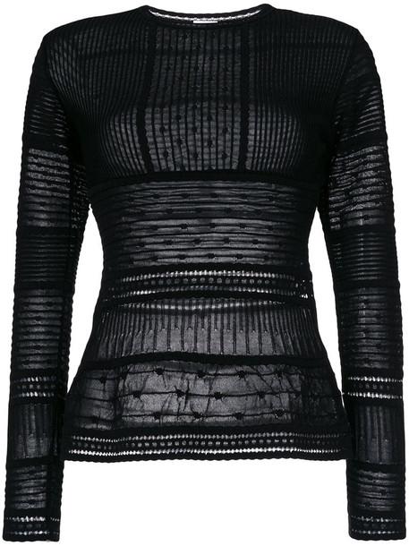 M Missoni - knitted top - women - Cotton/Polyamide/Polyester/Viscose - 42, Black, Cotton/Polyamide/Polyester/Viscose