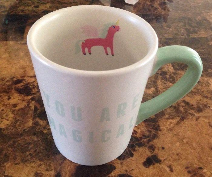 Valentine conversation unicorn mug