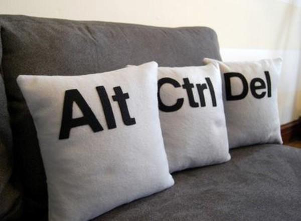 home accessory pillow keyboard alt ctrl pillow geek alt ctrl delete quote on it pillow dorm room nerd