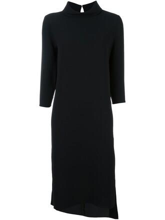 dress turtleneck dress women spandex black