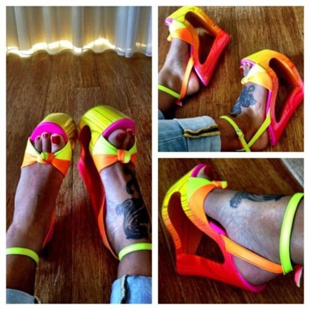 Colorful Wedge Heels | Tsaa Heel