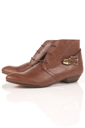 Attica strap back ankle boots