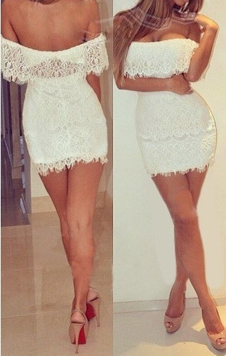 starsstores                  - luxury mini dress white