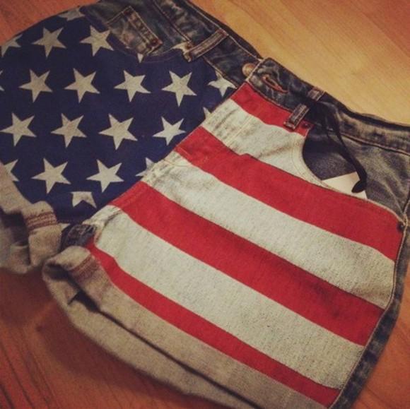 shorts american flag shorts summer shorts