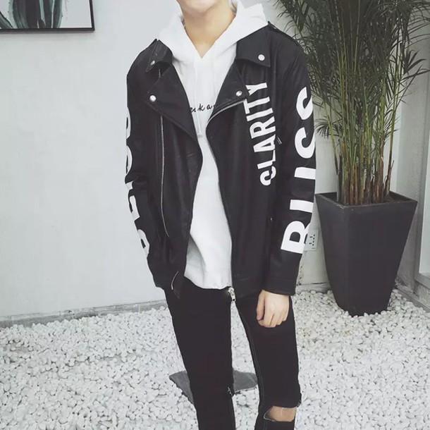Jacket Kpop Kstyle Korean Fashion Fashion Tumblr Leather Korean Fashion Korean Style