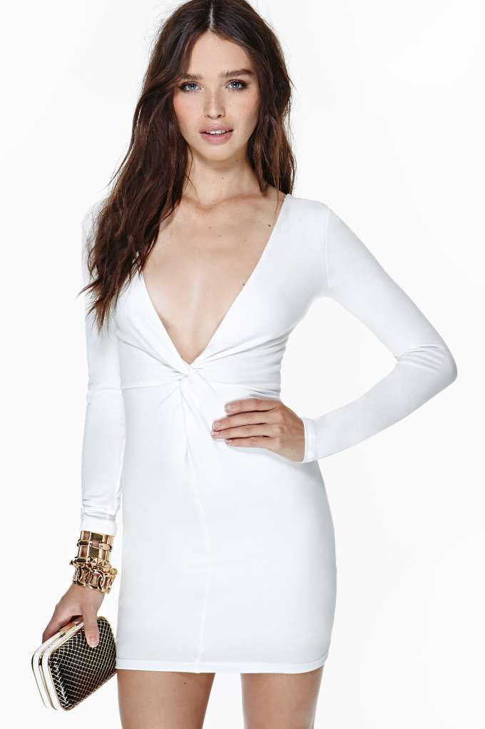 Nasty Gal Knot Over You Dress - Ivory in  What's New Clothes Dresses at Nasty Gal