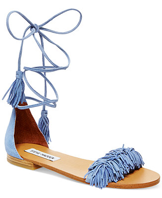 Steve Madden Women's Sweetyy Lace-Up Flat Sandals - Sandals - Shoes - Macy's