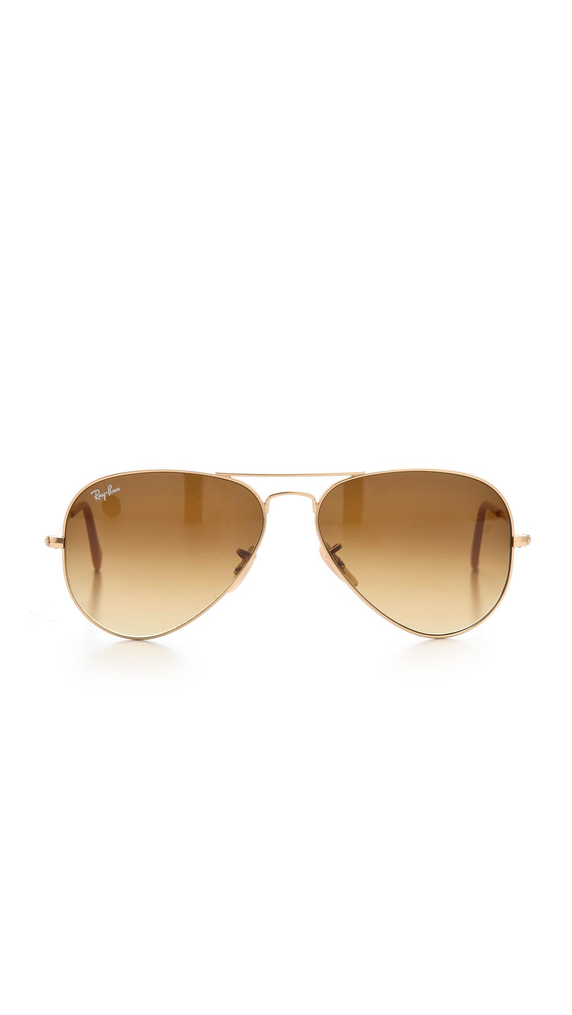 Ray-Ban Matte Classic Aviator Sunglasses | SHOPBOP