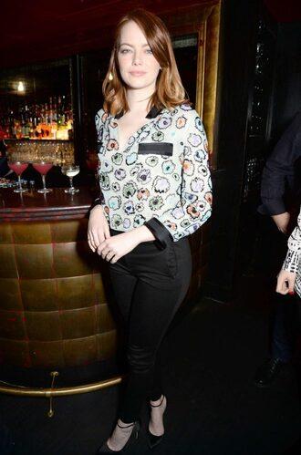 blouse top pants emma watson