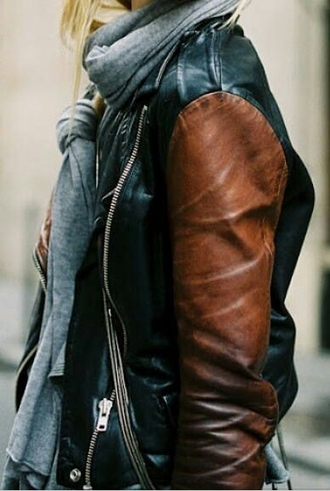 jacket leather jacket black jacket 2 toned black beige leather brown moto biker jacket motorcycle motorcycle jacket two toned two-toned two tone two-tone two tone leather two-tone leather two-toned leather two toned leather two tone leather jacket two-tone leather jacket outerwear outerwear jacket contrasting leather contrast jacket black and brown black & cognac cognac coat conac brown and black faux leather