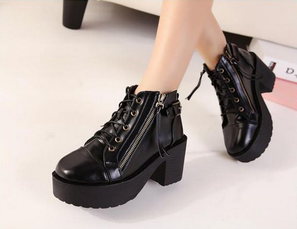 Shoes: black ankle boots, ankle boots, winter boots, shoes winter ...