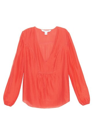 blouse coral top